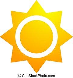 hot nice sun symbol