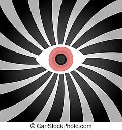Hypnosis red eye illustration - Creative design of Hypnosis...