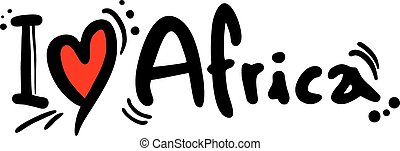 I love Africa - Creative design of I love Africa