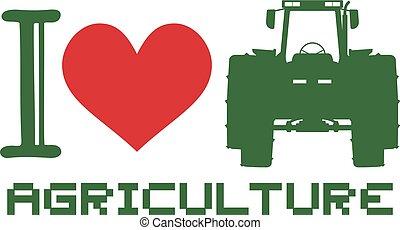 I love agriculture symbol