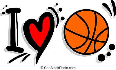 I love basket - Creative design of I love basket