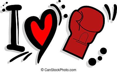 I love boxing - Creative design of I love boxing