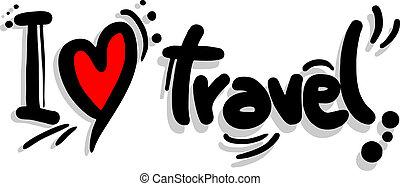 Creative design of I love travel