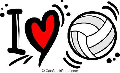 I love volleyball symbol