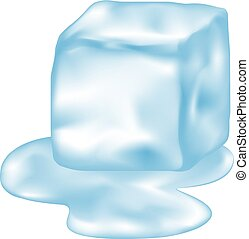 ice thawing illustration - Creative design of ice thawing ...