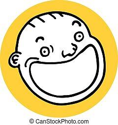 Icon face baby