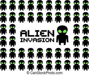 imaginative alien invasion illustration art - Creative...