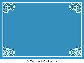 imaginative blue frame background