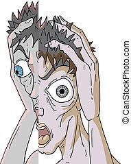 imaginative crazy face draw