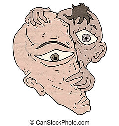 imaginative faces - Creative design of imaginative faces