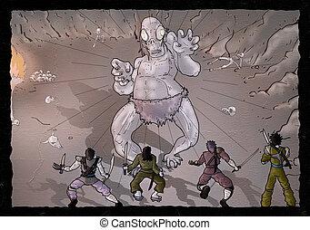 imaginative fantasy scene - Creative design of imaginative...