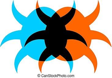 imaginative insect symbol - Creative design of imaginative...