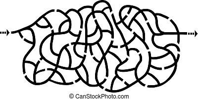 imaginative maze illustration - Creative design of...