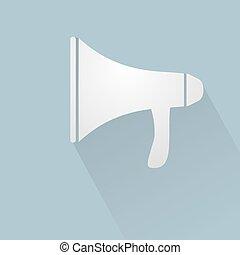 imaginative megaphone sign