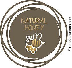 imaginative natural honey symbol - Creative design of...
