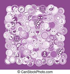 Imaginative purple cover