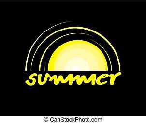 imaginative summer icon - Creative design of imaginative...