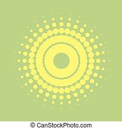 creative design of imaginative sun