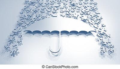 Creative design of imaginative umbrella