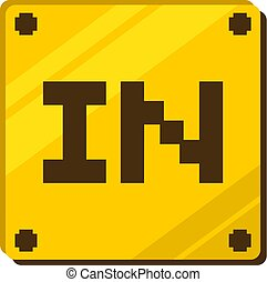 Creative design of in box icon