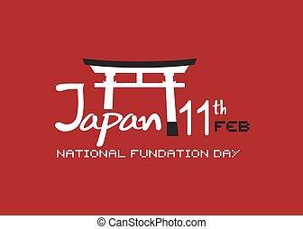 Japan 11 feb - Creative design of Japan 11 feb