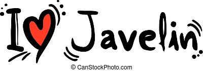 Javelin love - Creative design of Javelin love