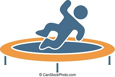 jumping on trampoline draw - Creative design of jumping on...