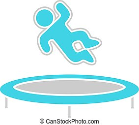 jumping on trampoline illustration - Creative design of...