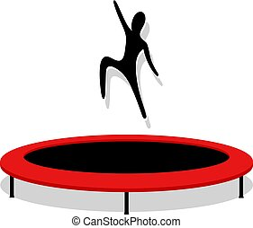 jumping on trampoline - Creative design of jumping on...