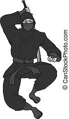 katana ninja - Creative design of katana ninja