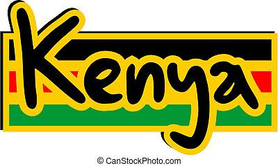 Kenya icon - Creative design of Kenya icon