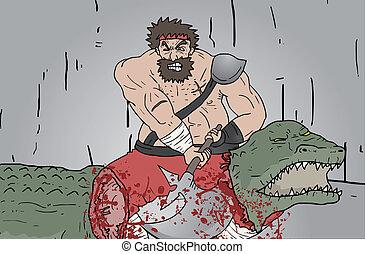 kill crocodile - Creative design of kill crocodile