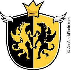 King medieval emblem