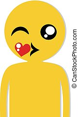 kissing boy flat icon