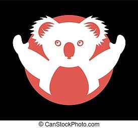 koala symbol - Creative design of koala symbol