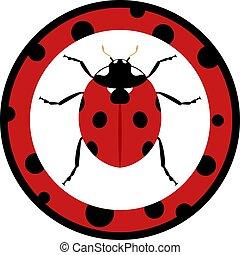 ladybug circle icon