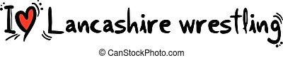 Creative design of Lancashire wrestling love