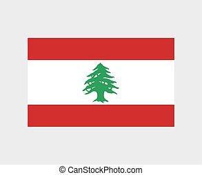 lebanon flag illustration