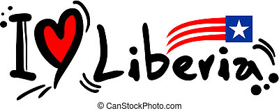 Liberia love - Creative design of Liberia love