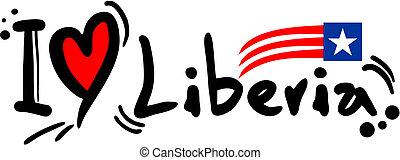 Liberia love - Creative design of Liberia love