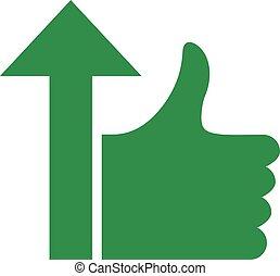 like arrow symbol