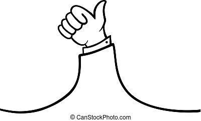 like hand illustration