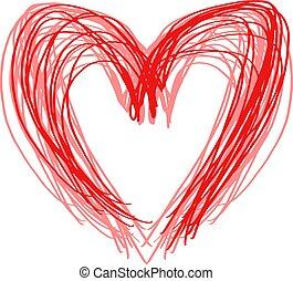 lines art heart