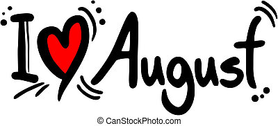 love august - creative design of love august