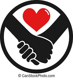 love couple hands circle icon