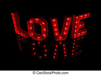 Creative design of love message