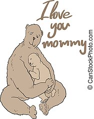 love you mommy message - Creative design of love you mommy...