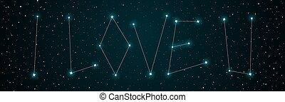 love you night sky