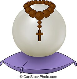 magic crystal ball illustration