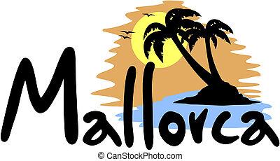 Creative design of Mallorca beach